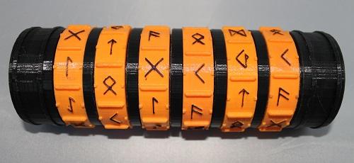 """Dose """"Kryptex"""" S schwarz/orange"""