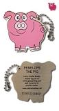 """Anhänger """"Penelope, das Schweinchen"""" Cache Buddy"""