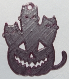 "Anhänger ""Pumpcat"" S aubergine"