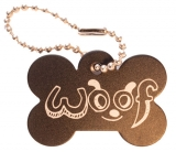 Woof Travel Tag, black