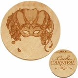 Cache Carnival Wooden Nickel SWAG Nice