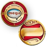 "Geocoin ""Event Mega"" goldenfarben"