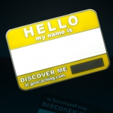 Name Tag yellow geocoin blank