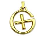 GeoSchmuck Geocaching Logo Poliertes Gold