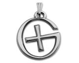 GeoSchmuck Geocaching Logo Poliertes Silber
