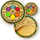 Geo-Achievement® Geocoin Set Road Trip