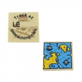 Trackable 2 Piece Pirate Map Tile