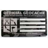 "Geocaching Label ""Urban Camo"" small, english"