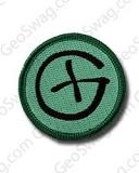"""Aufnäher """"Geocaching Logo"""" rund"""