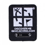 Geocaching Trackable Patch Black