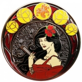 "Geocoin Art Nouveau ""Sommer"", Nickel antik"