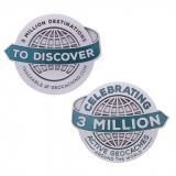 """Geocoin """"3 Millionen Geocaches"""", von Groundspeak"""