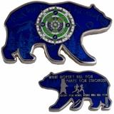 2018 Bear Geocoin - Blue
