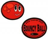 """Geocoin """"Bouncy Ball"""", rot nachtleuchtend"""