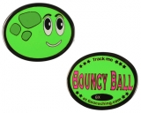 Bouncy Ball Geocoin Bob Black nickel, green glow, LE