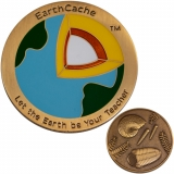 "Geocoin ""EarthCache™"" and tag set"