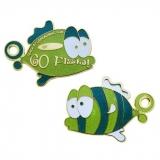 """Geocoin """"Go Fish - Oskar"""", LE grün"""