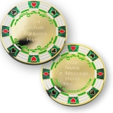 "Geocoin ""Poker Casino"", golden"