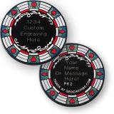 "Geocoin ""Poker Casino"", schwarz"
