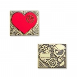 "Geocoin ""Steampunk Heart Red"""