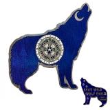 """Geocoin """"Wolf""""  blue LE"""