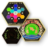 "Geocoin ""World Wide Flash Mob XIII"""