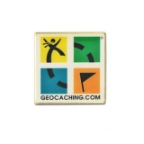 "Anstecker ""Geocaching-Logo"", retro"