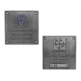 "Geocoin ""Blue Switch"", silberfarben"