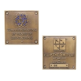 "Geocoin ""Blue Switch"", golden"