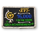 Geo-Achievement® Patch 16.000 Finds