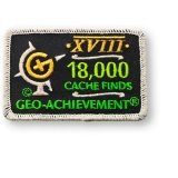 Geo-Achievement® Patch 18.000 Finds