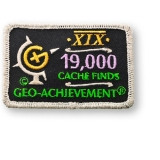 Geo-Achievement® Patch 19.000 Finds