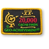 Geo-Achievement® Patch 20.000 Finds