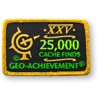 Geo-Achievement® Patch 25.000 Finds