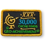 Geo-Achievement® Patch 30.000 Finds