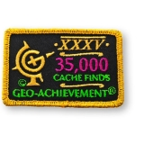 Patch 35.000 Finds Geo-Achievement