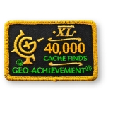 Geo-Achievement® Patch 40.000 Finds