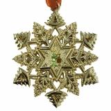 Schneeflocke Ornament Geocoin Signal und das Rentier