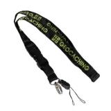 Schlüsselband schwarz/grün