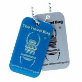 Travel Bug®, QR, Blue, Glow in the Dark