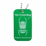 Travel Bug®, QR, Green, Glow in the Dark