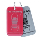Travel Bug®, QR, atomic pink - nachleuchtend