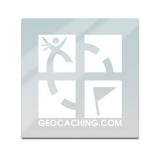 "White 4""x 4"" Geocaching Logo Vinyl Decal"