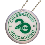"Travel Tag ""Celebrating 20 Years of Geocaching"""