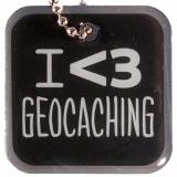 """Anhänger """"I heart Geocaching"""""""