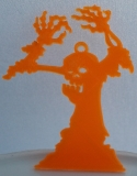 """Anhänger """"Zombie"""" M orange"""