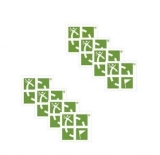 "Green 3/4"" x 3/4"" Mini Sticker 8 pk"
