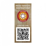 The Maker QR Sticker