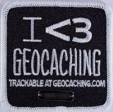 "Trackable Patch ""I heart Geocaching"""