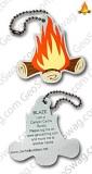 Blaze the Campfire Travel Tag